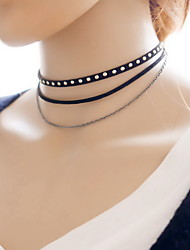 Women's Choker Necklaces Tattoo Choker Lace Fabric Tattoo Style Sexy Fashion Jewelry For Daily Casual