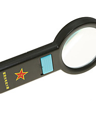 5X Multifunctional 10-LED Ultra Bright Light Handheld Army Style Magnifier