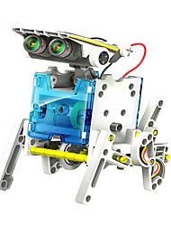 Недорогие -neje поделки 14 в 1 от солнечных батарей робот рисунок строительный блок монтаж