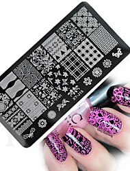 cheap -1pcs  New Nail Art Stamping Plates Colorful Image Templates Tools Nail Beauty XY-J15