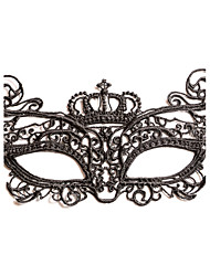cheap -Black Sexy Lady Lace Mask Cutout Eye Masquerade Party Fancy Dress Costume