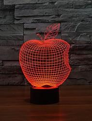 Недорогие -удивительные визуальные 3D звёздная ночь атмосфера настольные лампы с формы яблока с изменением цвета ночной свет