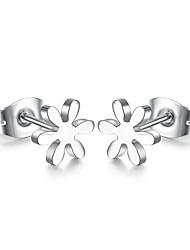 Недорогие -Жен. Серьги-гвоздики - Титановая сталь Цветы Дамы, На каждый день, Мода Серебряный Назначение Повседневные