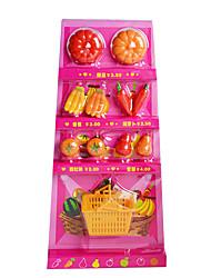 Недорогие -кукла подарочный набор больших частей фруктов и овощей в каждой семье DiY детские развивающие игрушки познавательные