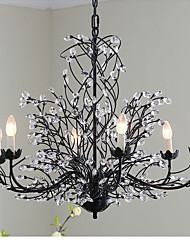 cheap -5 Chandelier ,  Traditional/Classic Painting Feature for Crystal Metal Living Room / Game Room