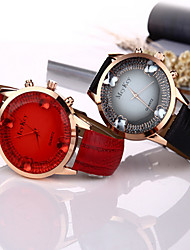 cheap -Women/Lady's Butterfly Fashion Gem Case Colorful Leather Band Fashion Watch