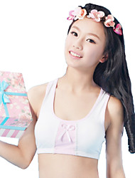 cheap -XLY Development Puberty Teenagers Girl's Comfortable Cotton Wireless Sports Bra Underwear. Item. Thin Cup Bra.Code 6015