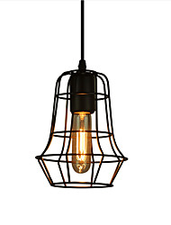 cheap -Retro Contracted Metal Pendant Lights, Creative Black Painting Living Room Dining Room Garage light Fixture