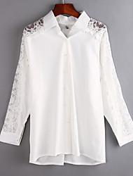 billige -Krave Ensfarvet Bomuld Skjorte