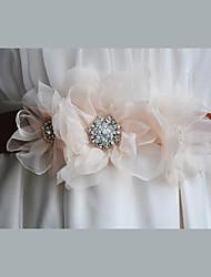 Raso / Raso/tulle / Chiffon / Lega Matrimonio / Party/serata / Da giorno Fusciacca-Fantasia floreale / Diamantini Da donna 220 cmFantasia