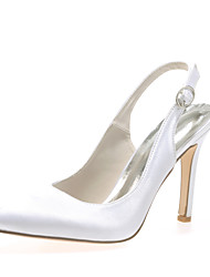 cheap -Women's Shoes Satin Stiletto Heel Pointed Toe Pumps/Heels Wedding Shoes More Colors available