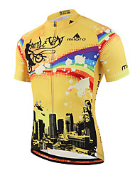 cheap -Miloto Men's Short Sleeve Cycling Jersey Bike Jersey, Quick Dry, Breathable, Sweat-wicking