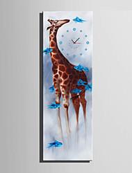 Модерн Животные Настенные часы,Прямоугольный Холст 24 x 70cm(9inchx28inch)x1pcs/ 30 x 90cm(12inchx35inch)x1pcs В помещении Часы