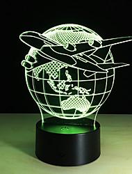 Недорогие -1шт касания 3 d водить красочное видение замены лампы подарок атмосфера настольная лампа цвет свет ночи
