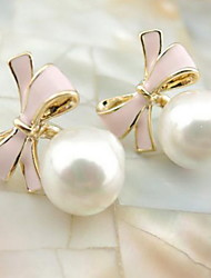 cheap -Drop Earrings Pearl Alloy Fashion Adjustable Circle Jewelry White Black Blue Pink Jewelry Daily Casual 1set