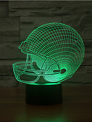 cheap -Rugby Hat Touch Dimming 3D LED Night Light 7Colorful Decoration Atmosphere Lamp Novelty Lighting Light