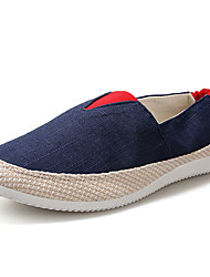 Men's Loafers & Slip-Ons Spring / Winter Comfort Linen Casual Flat Heel Slip-on Blue / Green / Gray / Royal Blue Walking