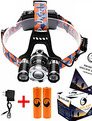 U'King ZQ-X825 Headlamps Headlamp Straps Headlight LED 8500ML lm 4 Mode Cree XM-L T6 Adjustable Focus Rechargeable Compact Size High