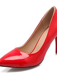 preiswerte -Damen Schuhe Kunststoff Lackleder Kunstleder Frühling Sommer Komfort Neuheit Pumps High Heels Walking Stöckelabsatz Tupfen für Hochzeit