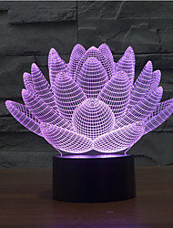 lotusbloem aanraking dimmen 3D LED 's nachts licht 7colorful decoratie sfeer lamp nieuwigheid verlichting kerstverlichting