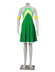 economico -Ispirato da Fairy Tail Winry Anime Costumi Cosplay Abiti Cosplay Pied-de-poule Senza maniche Abito Per Donna