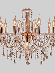 cheap -Rustic/Lodge Modern/Contemporary Crystal Candle Style Chandelier Chandeliers Uplight Ambient Light For Living Room Bedroom Dining Room