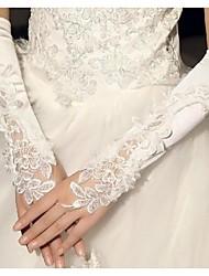 Elbow Length Fingerless Glove Cotton Bridal Gloves Spring Summer Fall Winter
