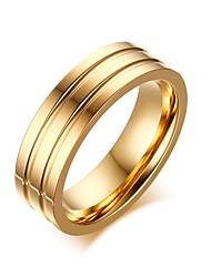 Недорогие -Муж. Кольцо - Нержавеющая сталь Мода 8 / 9 / 10 Золотой Назначение Официальные / Офис