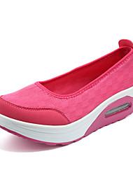 Недорогие -Жен. Обувь Ткань Лето Кеды На плоской подошве для Повседневные Черный Бежевый Серый Красный