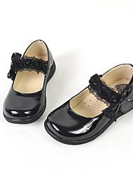 Dívčí Bez podpatku Koženka Jaro Podzim Svatební Ležérní Šaty Party Kouzelná páska Plochá podrážka Černá Plochý