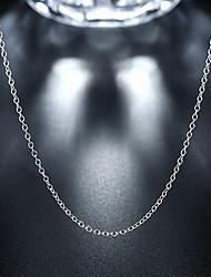 Недорогие -Универсальные Ожерелья-цепочки / Цепи - Стерлинговое серебро Дамы, На заказ, Мода Серебряный Ожерелье Бижутерия Назначение Свадьба, Для вечеринок, Повседневные, Спорт, Офис