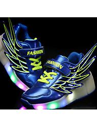 preiswerte -Jungen Schuhe PU Sommer Leuchtende LED-Schuhe Roller-Skate Schuhe Sneakers Walking Flacher Absatz LED für Normal Schwarz Orange Fuchsia