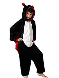 Pyjama Kigurumi  Chauve souris Combinaison Pyjamas Costume Flanelle Toison Noir Cosplay Pour Enfant Pyjamas Animale Dessin animé Halloween