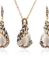 baratos -Mulheres Opal Synthetic / Gema Zircão Caído Conjunto de jóias 1 Colar / Brincos - Fashion / Doce Dourado Conjunto de Jóias Para Diário /