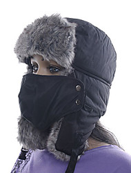 abordables -Chapka Chapeau en Fourrure Ski Chapeau Masque de protection contre la pollution Homme Femme Garder au chaud Snowboard Polyester Sports