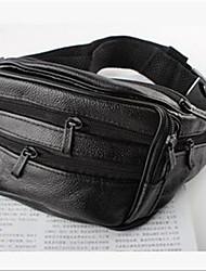 Недорогие -Муж. Мешки Полиуретан Искусственная кожа Поясная сумка Молнии для Повседневные на открытом воздухе Осень Черный Коричневый