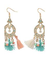cheap -Vintage Bohemian Round Beads Drop Earrings Colorful Beads Tassel Dangle Earrings Fashion Jewelry For Women