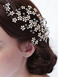 Imitation Pearl Rhinestone Alloy Hair Combs Flowers Hair Tool Headpiece