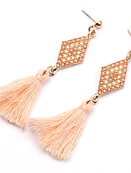 cheap -Women's Earrings - Gold Plated Personalized, Tassel, Vintage Black / Green / Pink For Party / Daily / Casual / Turquoise