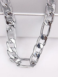 cheap -Men's 6MM Silver Chain Necklace Jewelry for Casual Elegant Style