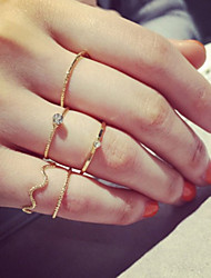 cheap -Women's Alloy Knuckle Ring - 5pcs Personalized / Simple Style / Adjustable Silver / Golden Ring For Party / Daily / Casual