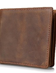 Men Bags All Seasons Cowhide Wallet for Professioanl Use Brown