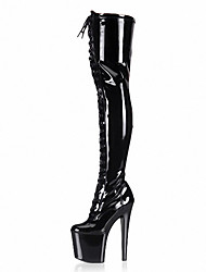 cheap -Nightclub dancer Women's Boots Heels / Fashion Boots Patent Leather / Party & Evening/Sexy temptation/A T model of boots