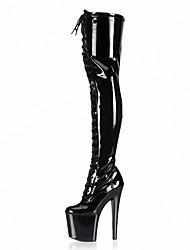 abordables -Mujer-Tacón Stiletto Plataforma-Plataforma Botas a la Moda Zapatos del club Light Up Zapatos-Botas-Boda Vestido Fiesta y Noche-Cuero