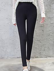 cheap -Women Solid Color Legging,Cotton