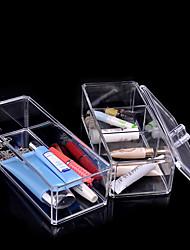Недорогие -акриловый косметический организатор макияж ящик для хранения пластиковый корпус акриловый organizador пировки