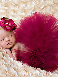 cheap -Newborn Princess Vintage Photography Prop Birthday Headband and Skirt Sets(0-5Month)