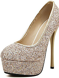 cheap -Women's Shoes Glitter Summer / Fall Gladiator Heels Peep Toe for Party & Evening / Dress Gold