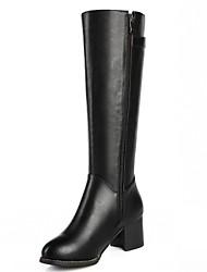 preiswerte -Damen Schuhe Kunststoff Kunstleder Mikrofaser Winter Herbst Komfort Neuheit Pumps High Heels Walking Blockabsatz Block Ferse Schnalle