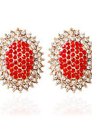 povoljno -Žene Moda Legura Ovalnog Jewelry Obala Crn Crvena Plava Pink Vjenčanje Nakit odjeće